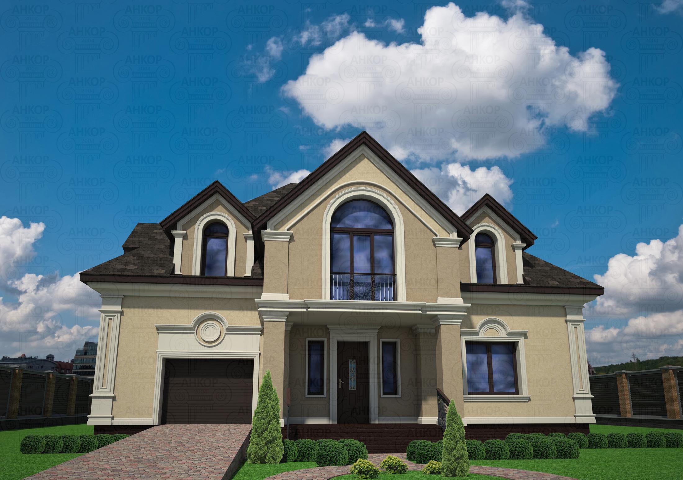 Как красиво сделать фасад дома фото